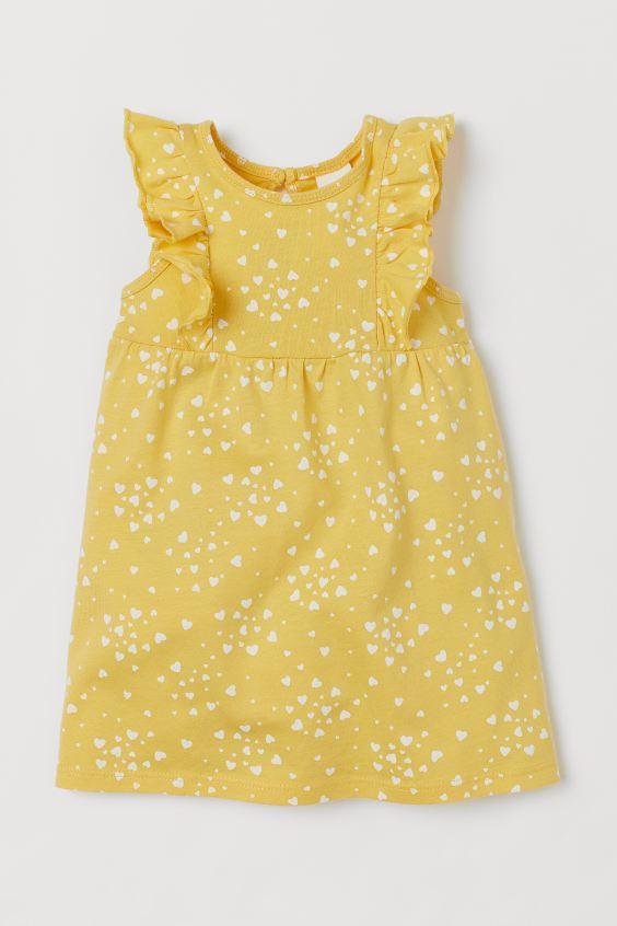 Vestido - Corações Amarelo - H&M