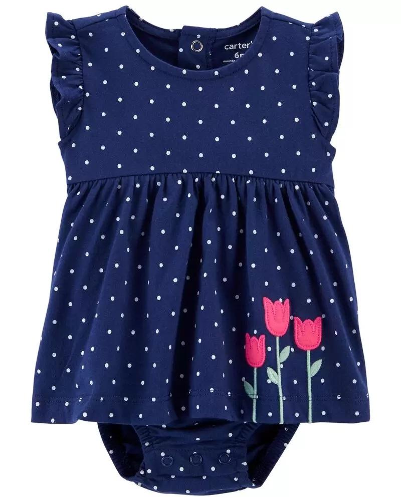 Vestido - Floral Azul - Carter's