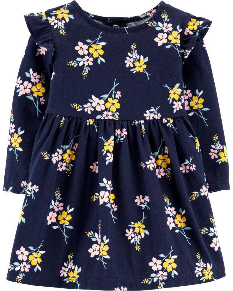 Vestido Manga Longa - Carter's - Floral