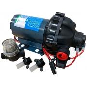 Bomba de Pressurização Automática Life 5.5 GPM 24V 60 PSI com Pressostato para Barcos Lanchas