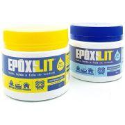 Cola Epoxi Nauticola Epoxilit Massa Subaquática 2,0 kg Componente A + B Impermeabilizante