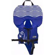 Colete Salva-Vidas Infantil Ativa Baby Homologado pela Marinha Azul Classe V Até 25kg