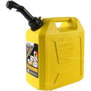 Galão de Combustível Diesel Seaflo 5 Litros Amarelo com Bico para Controle