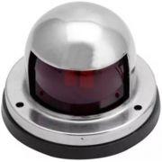 Luz de Navegação Bombordo BB Vermelha Encarnada em Inox 12V Montagem na Horizontal com Base em ABS
