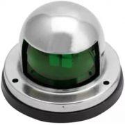 Luz de Navegação Boreste BE Verde em Inox 12V Montagem na Horizontal com Base em ABS