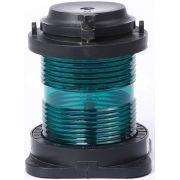 Luz de Navegação Circular Boreste Homologada Verde 360° LED 24V em Plástico Montagem Horizontal