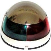 Luz de Navegação de Proa Bicolor Bombordo e Boreste em Aço Inox de Sobrepor 12V