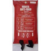 Manta Cobertor Anti Chama Certificada em Fibra de Vidro para Proteção contra Fogo 1,2m x 1,8m