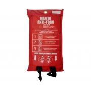 Manta Cobertor Anti Chama Certificada em Fibra de Vidro para Proteção contra Fogo 1,8m x 1,8m