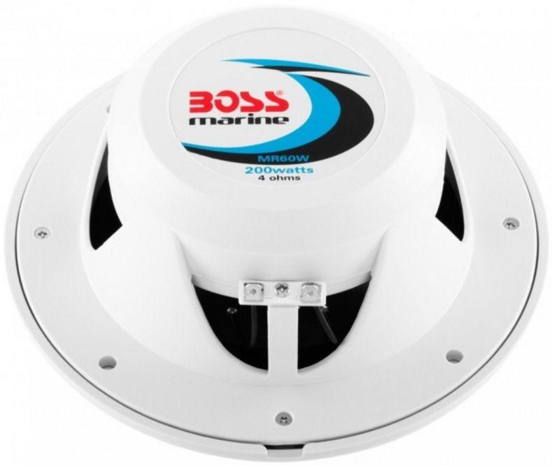 "Alto-Falante Náutico Marinizado Boss Marine MR60W 200 Watts 6,5"" 2-Way Coaxial Marine Speaker Par"