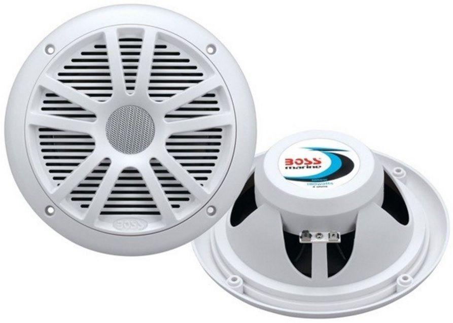 "Alto-Falante Náutico Marinizado Boss Marine MR6W 180 Watts 6,5"" Dual Cone 180W Marine Coaxial Speaker"