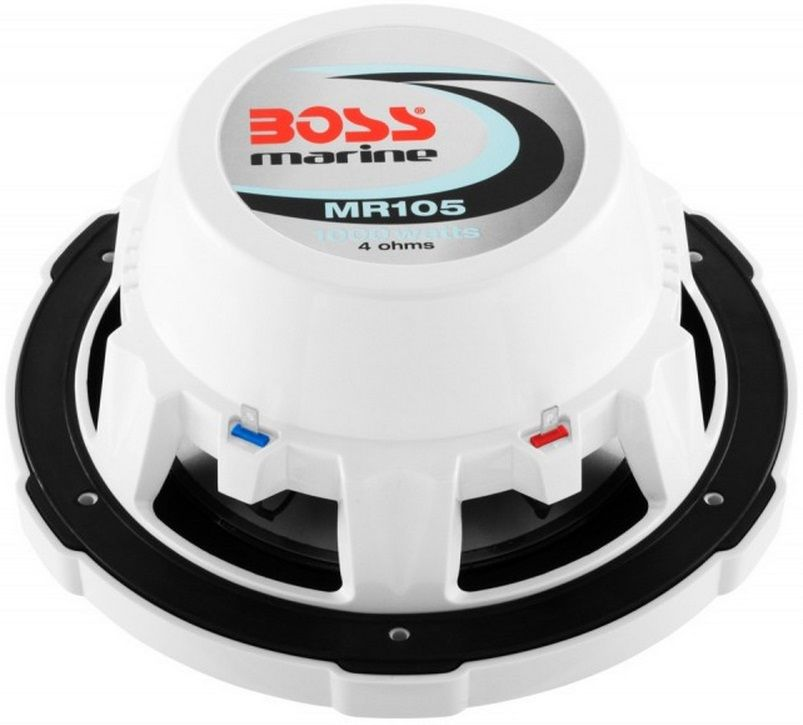 "Alto-Falante Subwoofer Náutico Marinizado Boss Marine MR105 1000 Watts 10"" Single Voice Coil (4 Ohm)"