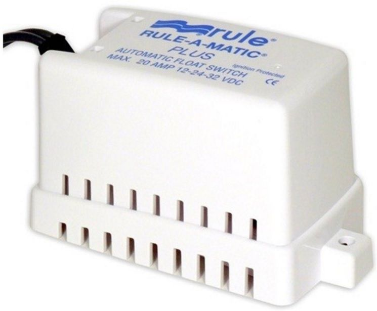Automático Rule para Bombas de Porão 20A com Capa e Porta-Fusível Modelo 40FA - Rule-A-Matic Plus Float Switch