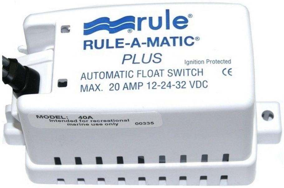 Automático Rule para Bombas de Porão 20A com Capa e Porta-Fusível Modelo 40FA - Rule-A-Matic Plus Float Switch
