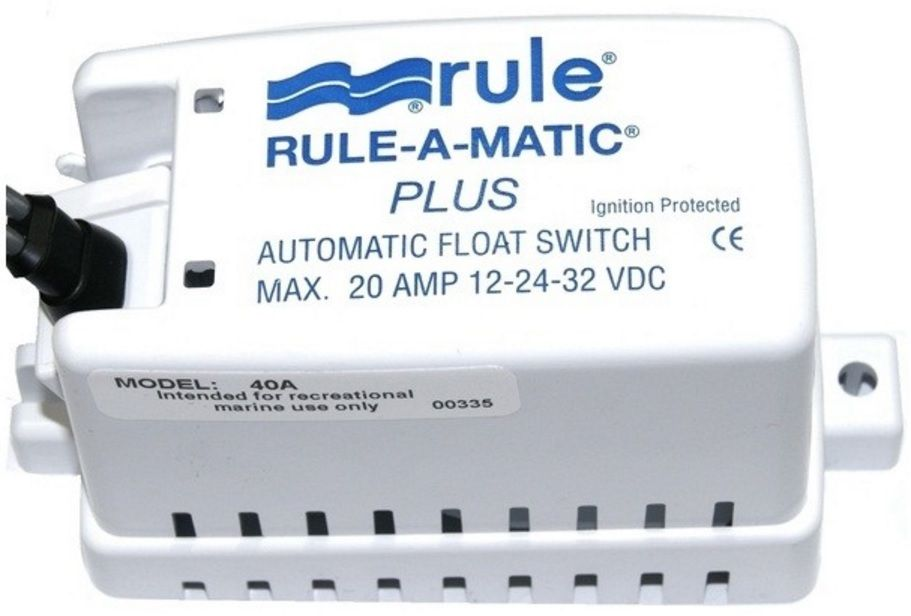 Automático Rule para Bombas de Porão 20A com Capa Modelo 40A - Rule-A-Matic Plus Float Switch