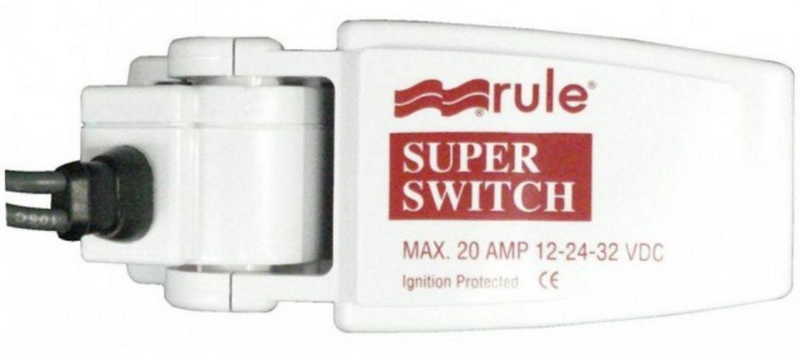 Automático Rule para Bombas de Porão 20A Modelo 37A - SuperSwitch Float Switch