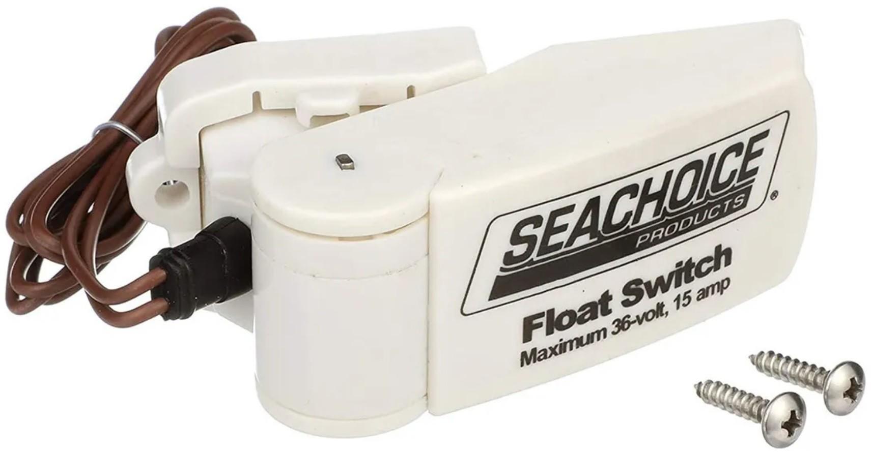 Automático Seachoice 15A para Bombas de Porão 12V/24V/36V (Chave Boia Flutuante) de Barcos e Lanchas