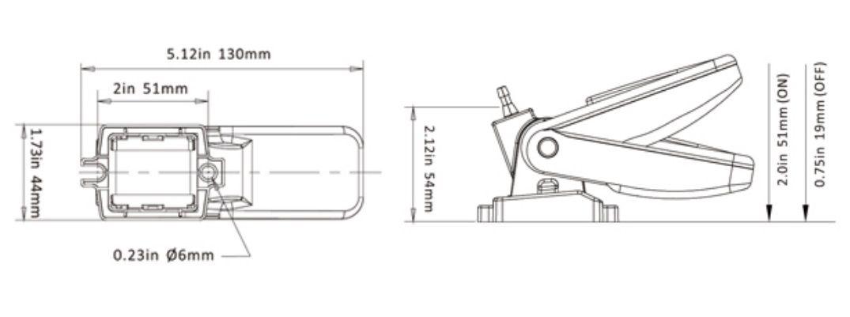 Automático Seaflo (Matsuri) 20A para Bombas de Porão 12V/24V/32V (Chave Boia Flutuante) MTS1-20
