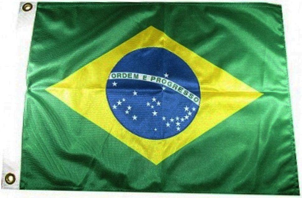 Bandeira Do Brasil para Uso Náutico em Barcos Lanchas Antenas Mastros 33x47 cm