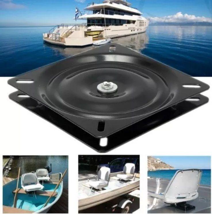 Base Giratória para Assento Cadeira Náutica Mesa e Banco para Barcos e para Pesca Giro de 360 Graus