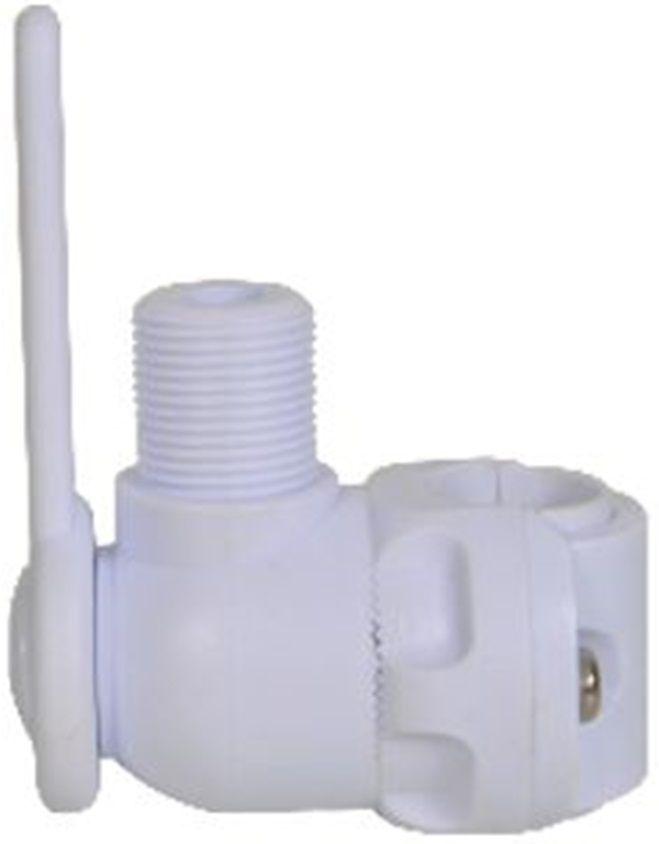 Base Suporte Articulado para Antena VHF para Guarda Mancebo em Nylon Branco