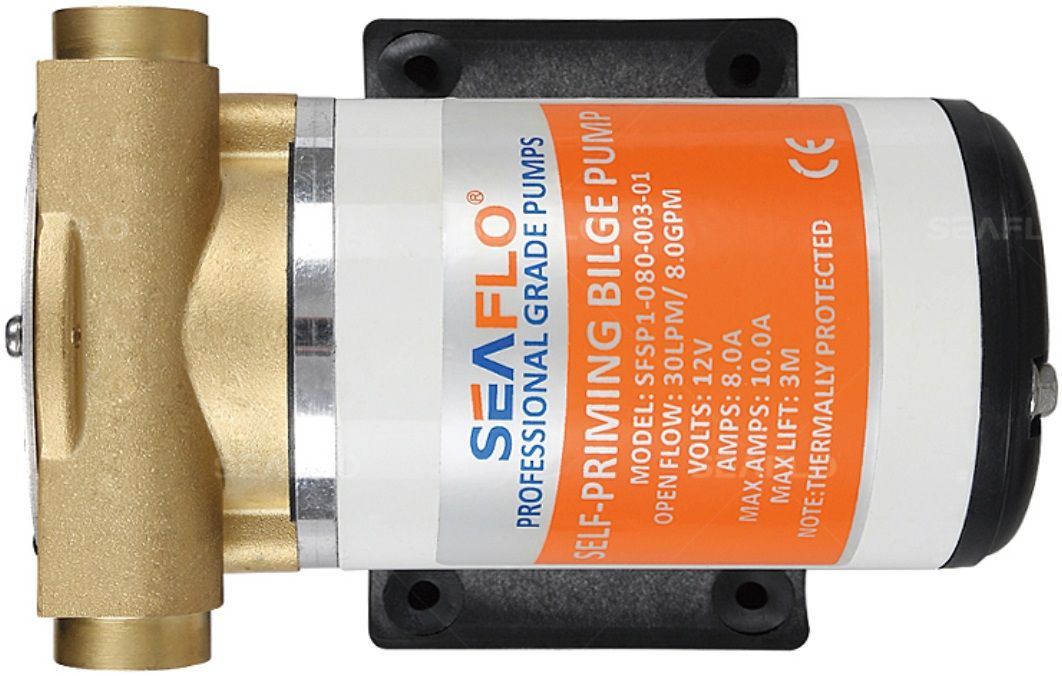 Bomba de Circulação e Transferência de Líquidos Auto-Aspirante Seaflo 8.0 GPM 24V Modelo SFSP2-080-003-01