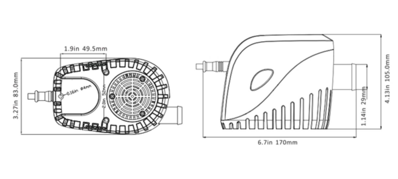 Bomba de Porão com Automático Integrado Seaflo 1100 GPH 12V 11S p/ Barcos e Lanchas
