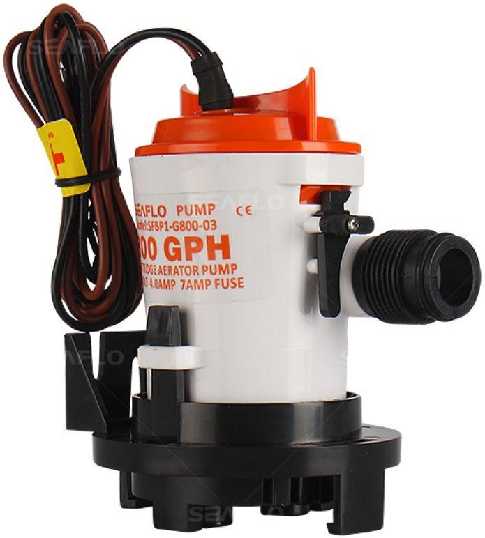Bomba de Porão Removível Seaflo 800 GPH 12V com Base Fixa Modelo SFBP1-G800-03