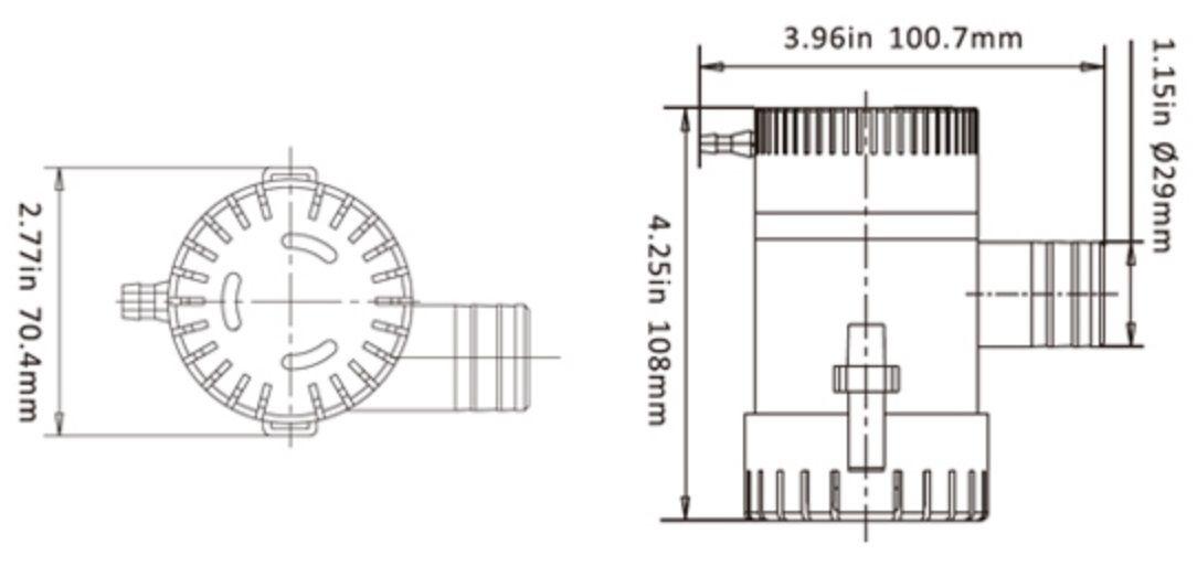 Bomba de Porão Seaflo 1100 GPH 12V Modelo SFBP1-G1100-01
