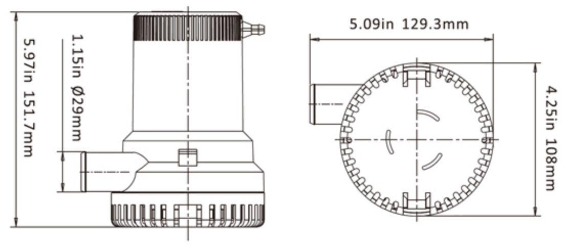 Bomba de Porão Seaflo 1500 GPH 12V Modelo SFBP1-G1500-01