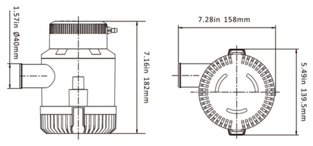 Bomba de Porão Seaflo 3000 GPH 24V Modelo SFBP2-G3000-01