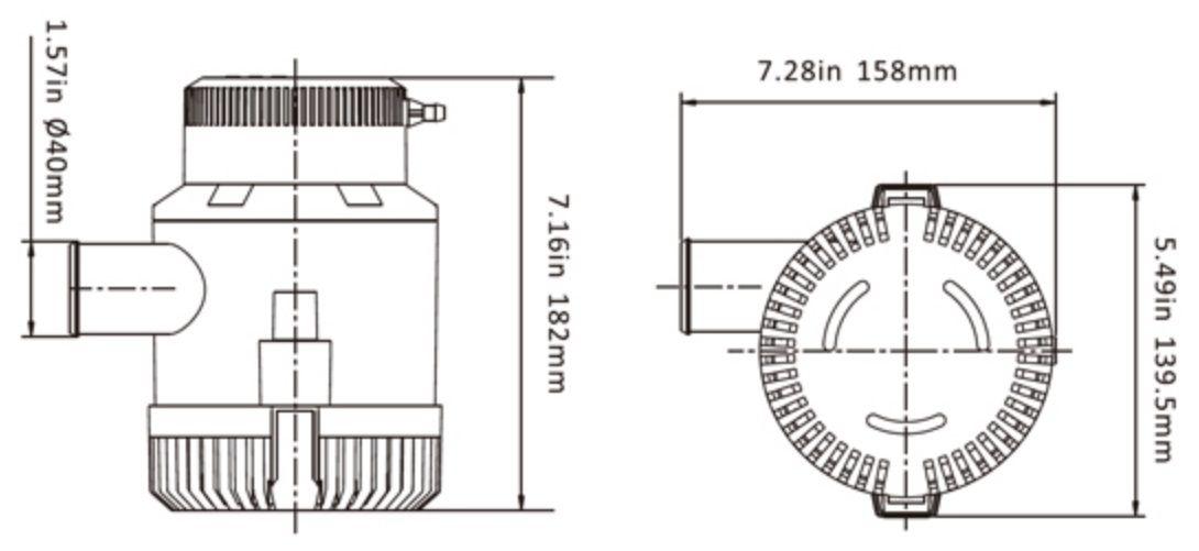 Bomba de Porão Seaflo 3500 GPH 12V Modelo SFBP1-G3500-01