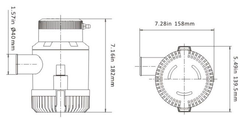 Bomba de Porão Seaflo 3700 GPH 12V Modelo SFBP1-G3700-01