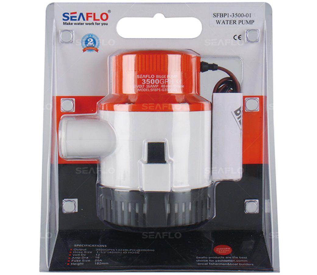 Bomba de Porão Seaflo 4700 GPH 17625 LPH 12V Modelo SFBP1-G4700-01