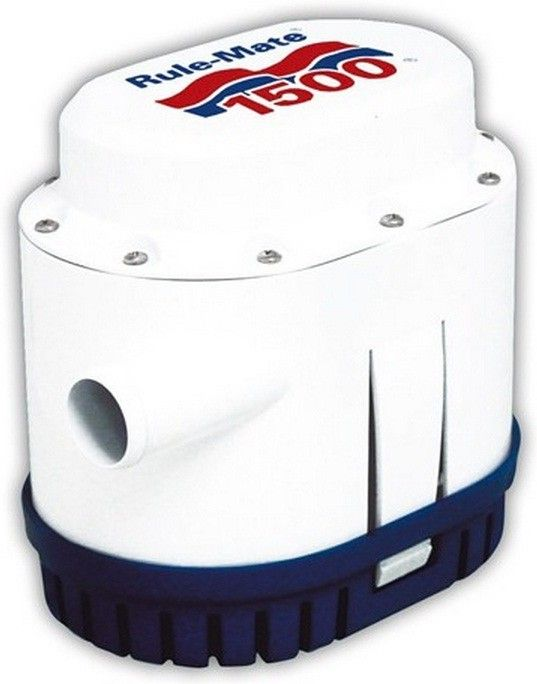 Bomba de Porão Submersível com Automático Integrado Rule-Mate 1500 GPH 12V Modelo RM1500