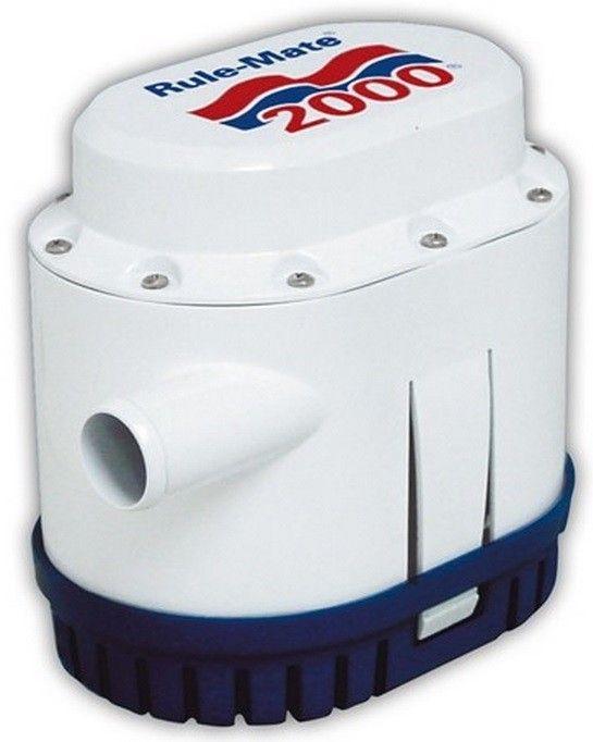 Bomba de Porão Submersível com Automático Integrado Rule-Mate 2000 GPH 12V Modelo RM2000