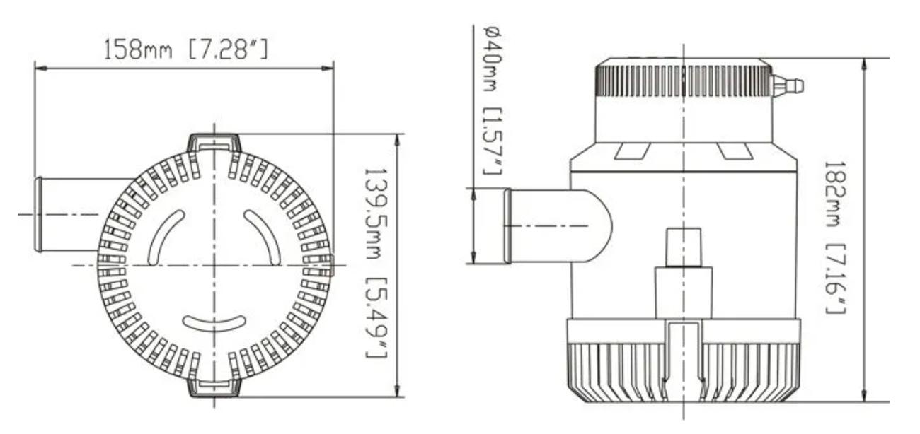 Bomba de Porão Submersível Life 3000 GPH 12V para Barcos e Lanchas