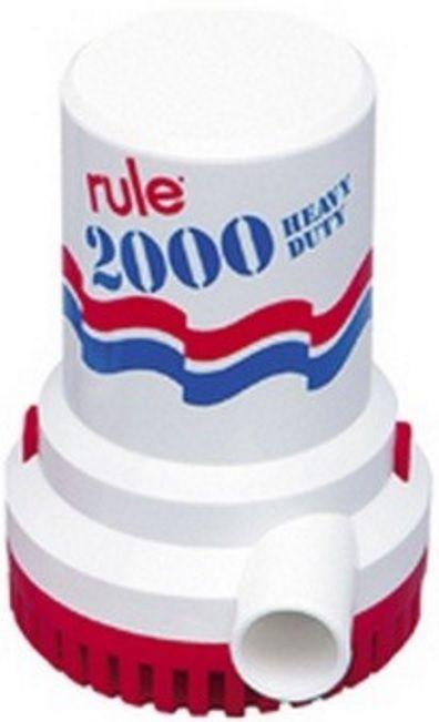 Bomba de Porão Submersível Rule 2000 GPH 12V Modelo 10