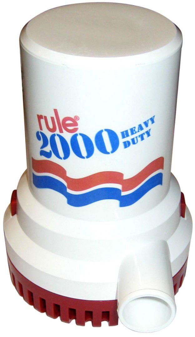 Bomba de Porão Submersível Rule 2000 GPH 24V Modelo 12