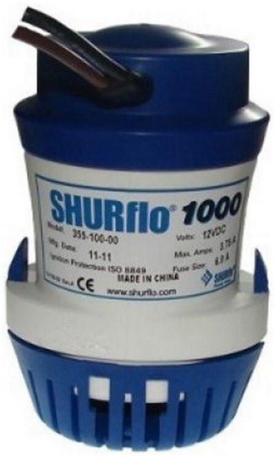 Bomba de Porão Submersível Shurflo 1000 GPH 12V Modelo 355-100-10