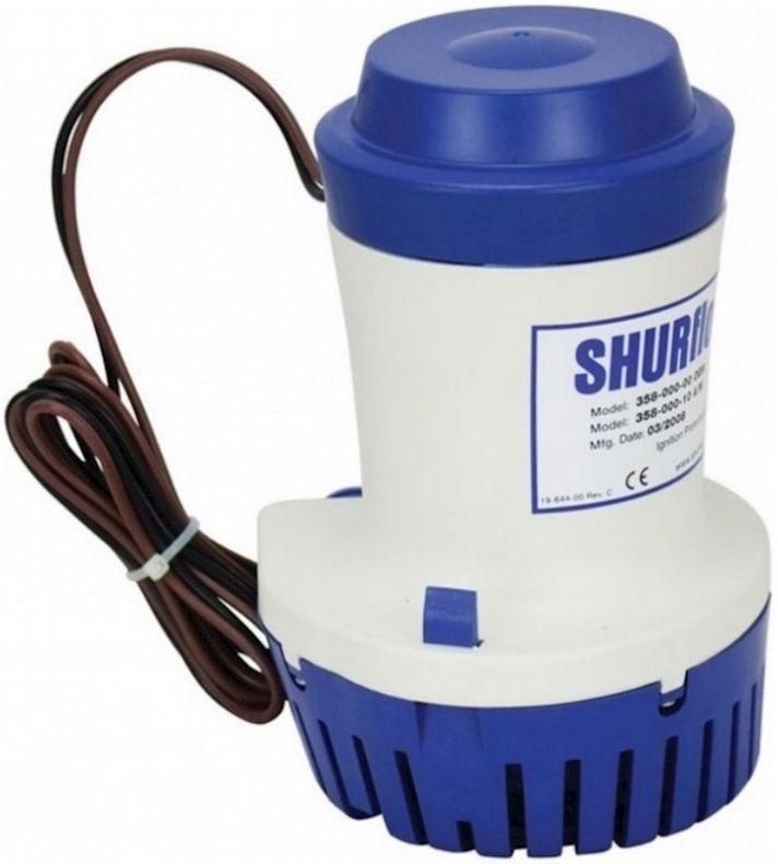 Bomba de Porão Submersível Shurflo 2000 GPH 12V Modelo 358-010-10