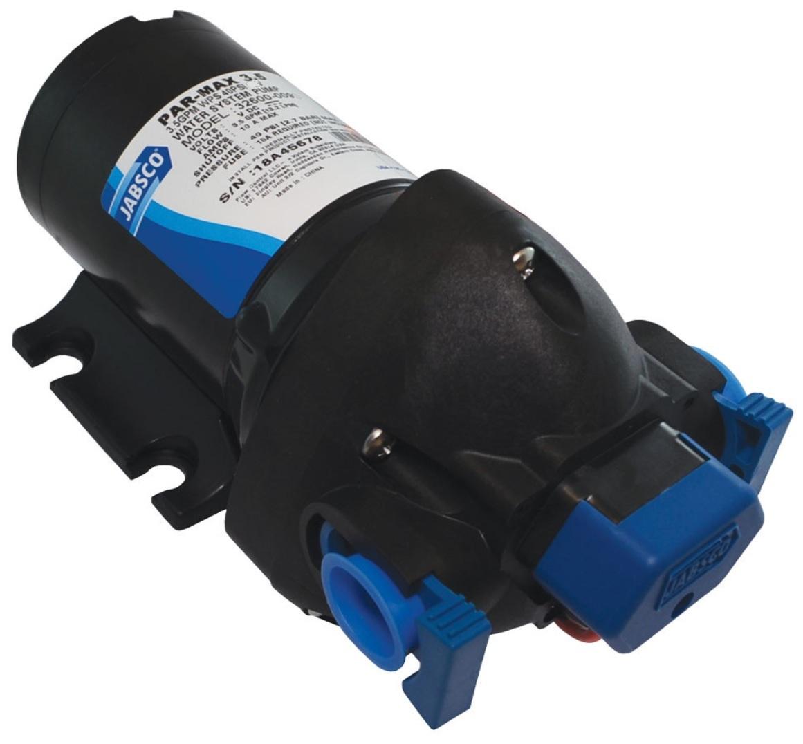 Bomba de Pressurização Automática Jabsco PAR-Max 3.5 GPM 24V 40 PSI para Barcos e Lanchas