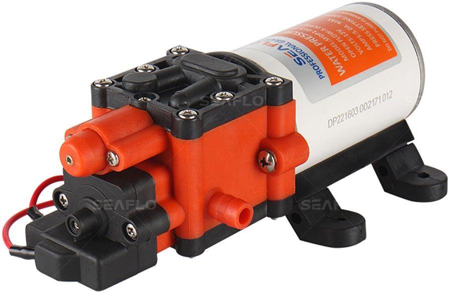 Bomba de Pressurização Automática Seaflo 1.3 GPM 12V 60 PSI com Pressostato Modelo SFDP1-013-060-22