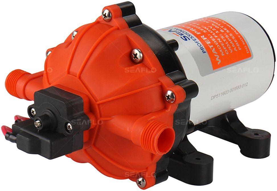Bomba de Pressurização Automática Seaflo 5.0 GPM 12V 60 PSI com Pressostato Modelo SFDP1-050-060-51