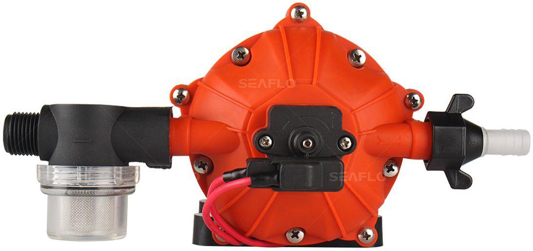 Bomba de Pressurização Automática Seaflo 5.5 GPM 12V 60 PSI com Pressostato Modelo SFDP1-055-060-51