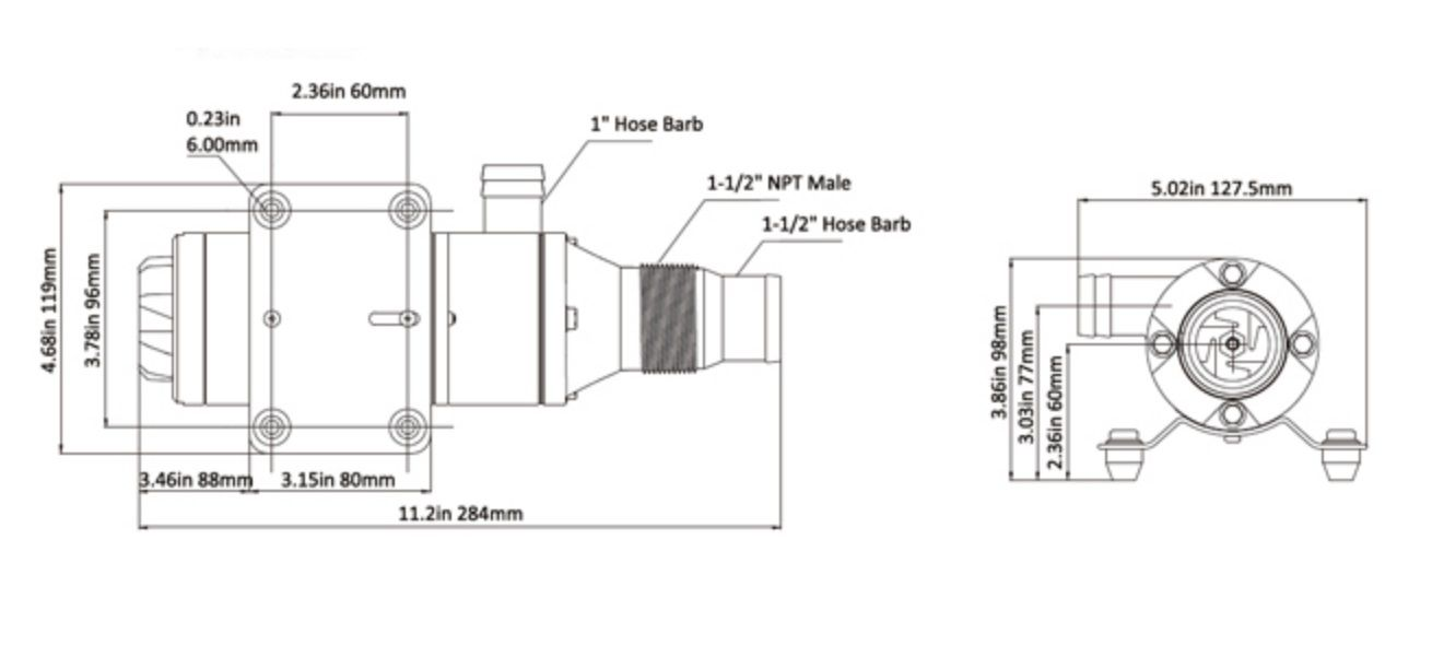 Bomba Maceradora de Resíduos Seaflo 12V para Vaso Sanitário (Caixa Séptica) 12 GPM Série 01