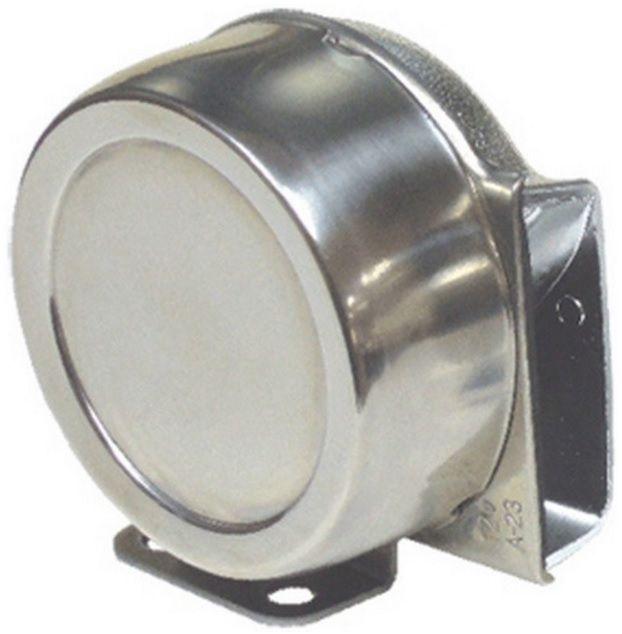 Buzina Caracol Náutica Elétrica 12V Simples Yar Ton HYF-364S - Compacta em INOX para Barcos Lanchas e Veleiros