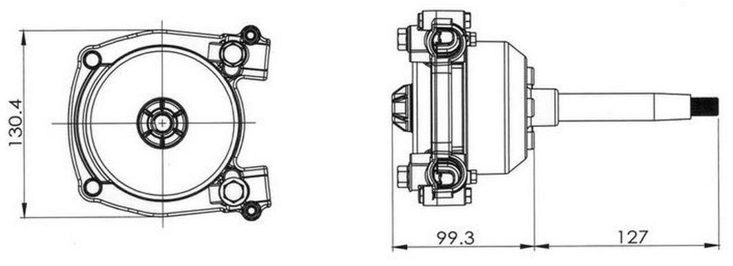 Caixa de Direção Planetária SAFE-T Pretech Modelo 3000 Geração II para Barcos e Lanchas