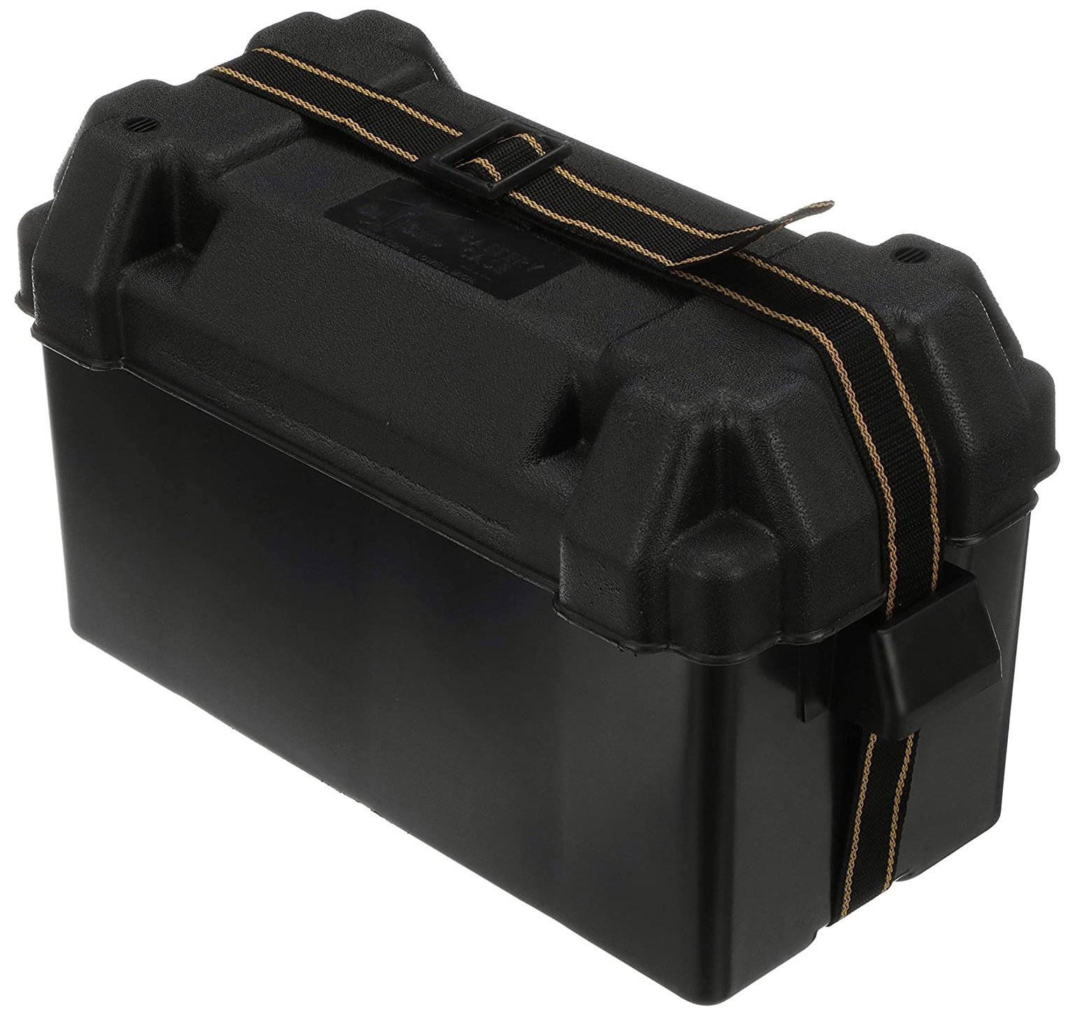 Caixa Protetora Plástica Suporte de Bateria de Barcos e Lanchas com Tampa e Cinta Attwood - Grande