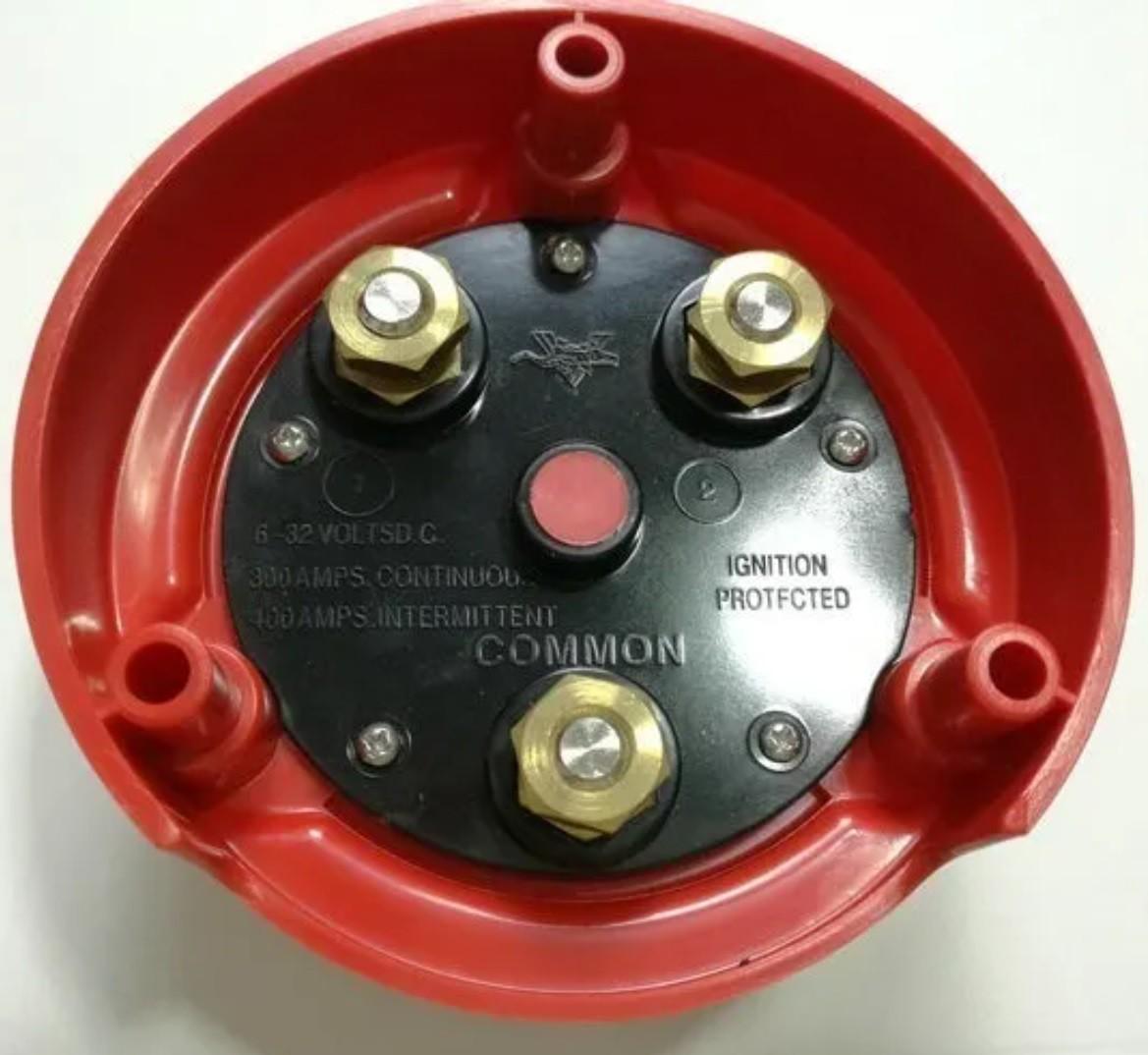 Chave Geral Náutica para 2 Baterias 300A Contínuos 12V a 32V p/ Barcos e Lanchas